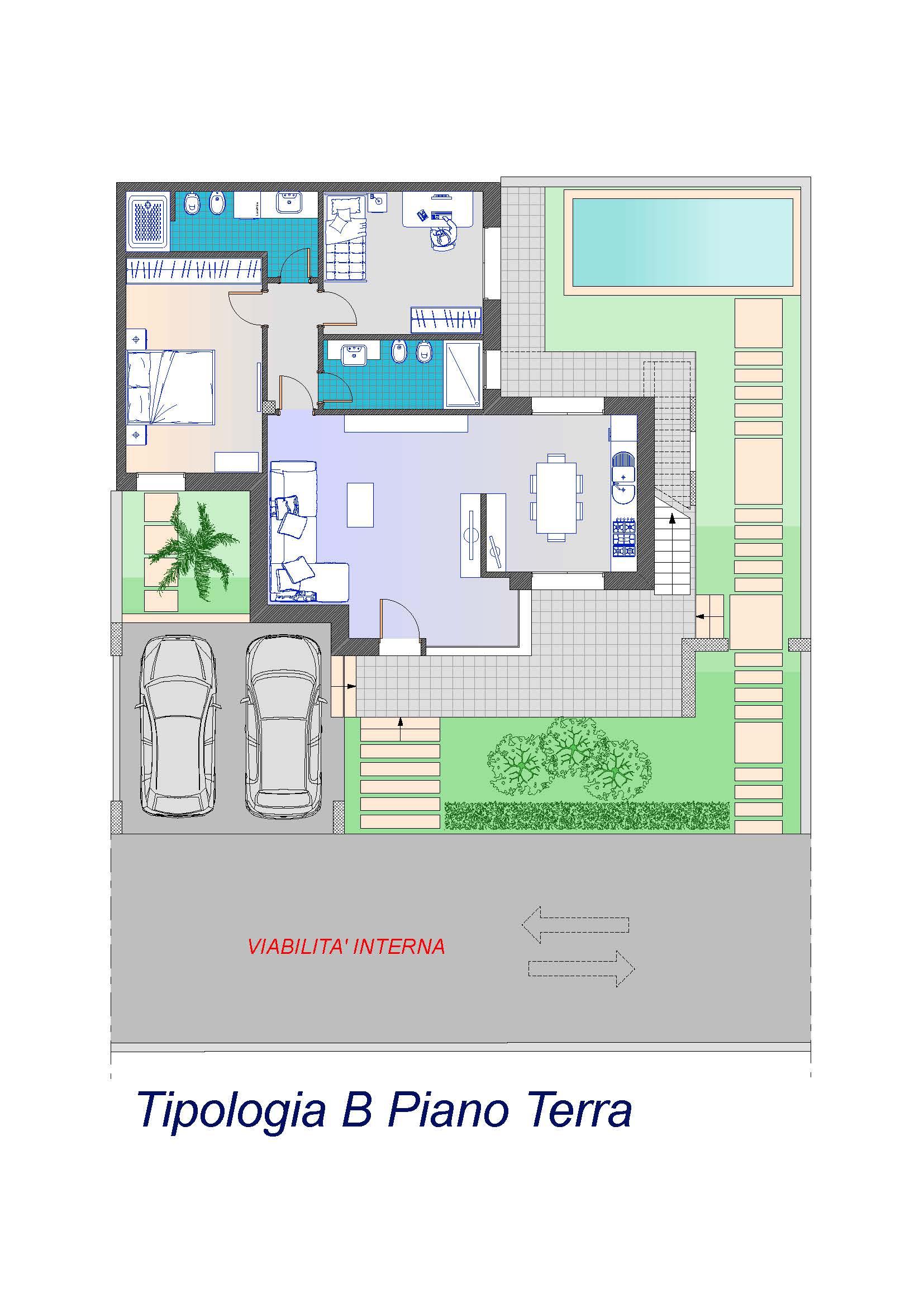 """Tipologia B Ville Unifamiliari Classe GOLD Casa Clima  Ville NZEB """"Classe A4"""" Nazionale – S.P. Lecce-Frigole"""
