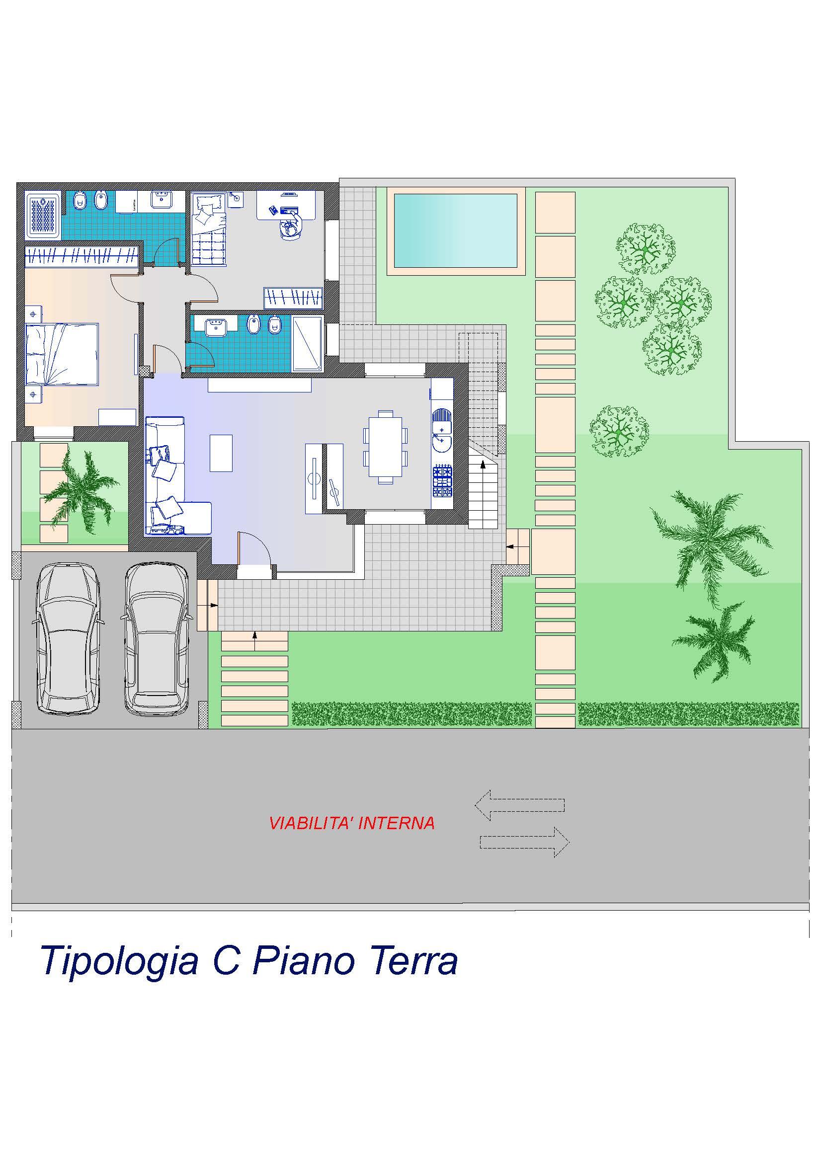 """Tipologia C  Ville Unifamiliari Classe GOLD Casa Clima NZEB """"Classe A4"""" Nazionale – S.P. Lecce-Frigole"""